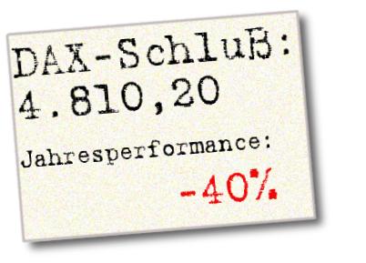 Dax Schlusskurs 2008