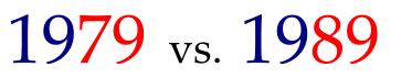 1979 vs. 1989