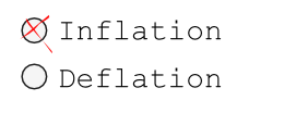 Inflation vs. Defaltion