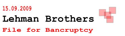 Lehman Brothers: 1 Jahr seit der Pleite