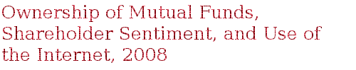 Ownership of Mutual Funds