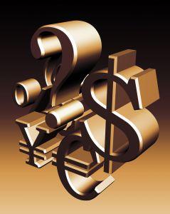 Waehrungen Symbole Euro Dollar Yen